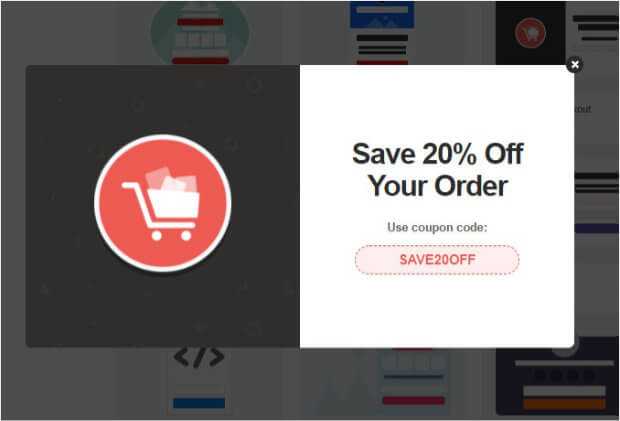 Abadoning checkout OptinMonster template preview
