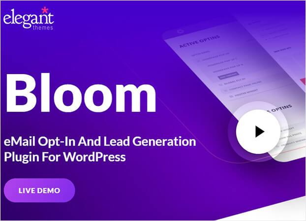 Bloom WordPress popup plugin