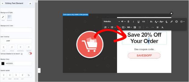 Edit Abandon Checkout template text