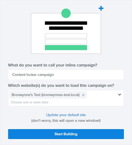Name content lock campaign in OptinMonster