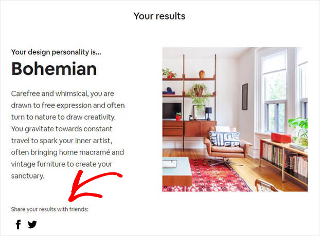 Airbnb share quiz results_