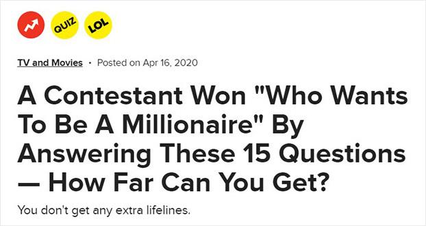 BuzzFeed quiz