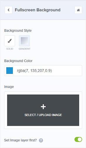 Change fullscreen mat background_