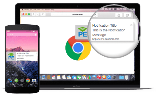 PushEngage-notification example