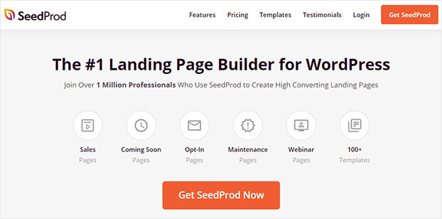 SeedProd landing page builder home_