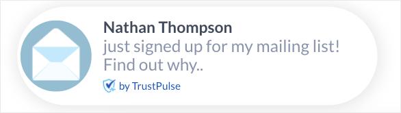 Shopify email marketing trustpulse notification