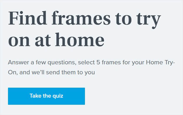 Warby parker quiz with insights_