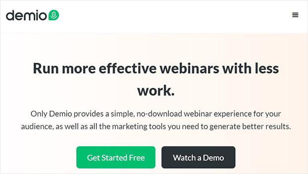 demio webinar tool