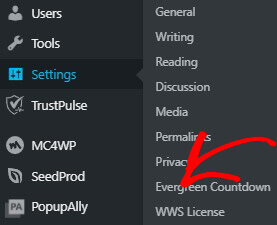 Choose WWS License from dashboard_