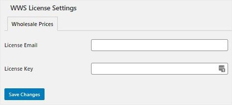 WWS License Settings