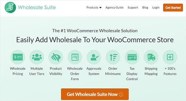 Wholesale Suite home page_