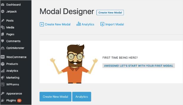 convert plus create new modal in wp-min