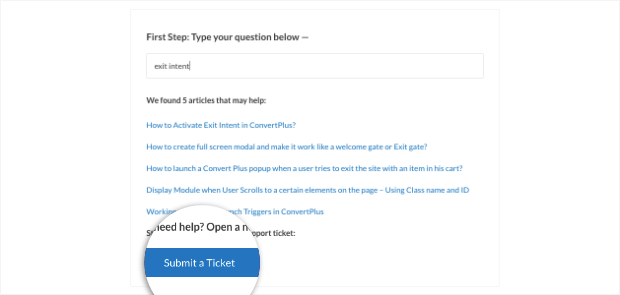 submit a ticket with convert plus-min