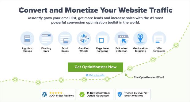optinmonster homepage