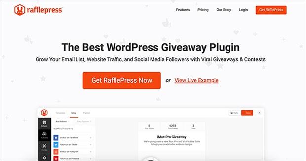 rafflepress giveaway plugin