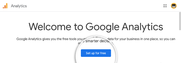 Set up for free Google Analytics