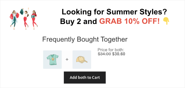 inline campaign for frequently bought together